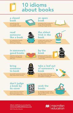 books idioms infographic