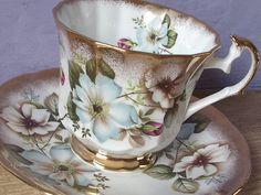 Vintage English tea cup and saucer Elizabethan door ShoponSherman