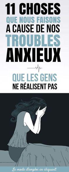 Au quotidien, les effets de l'anxiété sont souvent minimisés. Pour comprendre l'anxiété, il faut l'avoir vécue. Une partie du problème vient du fait qu'il y a encore beaucoup de mystères et d'idées erronées autour de l'anxiété.Bien que beaucoup de personnes pensent que les personnes souffrant d'anxiété ...
