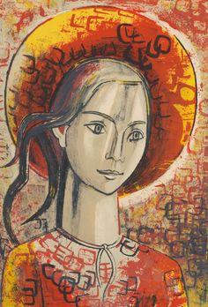 Aurelia in red bonnet Francoise Gilot