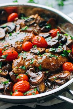 Drunken Chicken Marsala with Tomatoes | Recipe