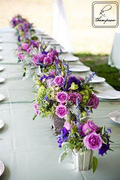 outdoor wedding table decor
