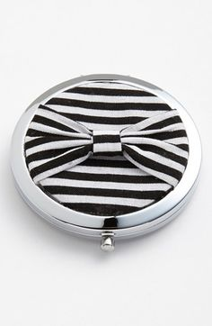 Sweet Sorrella Designs Stripe Compact Mirror available at Vintage Dressing Tables, Bow Tops, Compact Mirror, Out Of Style, Stocking Stuffers, Girly, Nordstrom, Stripes, Bows