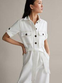Cotton Jumpsuit, Spring Summer, Shirt Dress, Outfits, Denim, Elegant, Coat, Jackets, Shirts