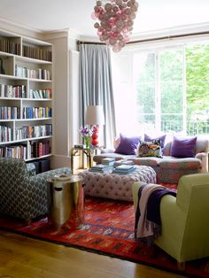 Layered patterns and colors create a lush, eclectic atmosphere!