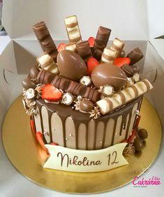 Best Birthday Cake Designs, Elegant Birthday Cakes, Beautiful Birthday Cakes, Birthday Drip Cake, Birthday Cake Decorating, Cool Birthday Cakes, Chocolate Bar Cakes, Chocolate Cake Designs, Pretty Cakes