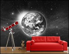 Outer space theme bedroom decorating ideas and outer space theme decorations