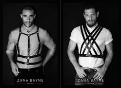 Zana Bayne has expanded into men's leather accessories, which have launched today exclusively via Bayne's namesake online store. Leather Harness, Leather Men, Stylish Outfits, Cool Outfits, Mens Leather Accessories, African Accessories, Kinds Of Clothes, Leather Design, Sexy Men