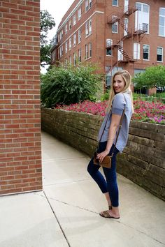 summer dress code // Madewell Chambray Courier Top, Madewell High Rise Skinny Jeans, Leopard Sandals, Vera Bradley Crossbody