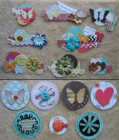 Clustered embellishments by TMaja - Cards and Paper Crafts at Splitcoaststampers