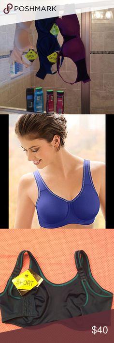 NWT Wacoal underwire sports bra 32G NWT Wacoal underwire sports bra for your active lifestyle size 32G, questions??? Please ask Wacoal Intimates & Sleepwear Bras