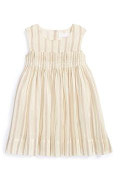 Burberry Stripe Silk Blend Dress (Baby Girls) available at #Nordstrom