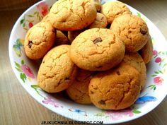 CIASTECZKA Z MASŁEM ORZECHOWYM I CZEKOLADĄ Muffin, Cookies, Breakfast, Recipes, Biscuits, Crack Crackers, Morning Coffee, Recipies, Muffins