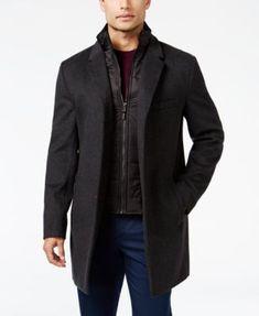 MICHAEL Michael Kors Men's Water-Resistant Overcoat with Zip-Out Liner | macys.com