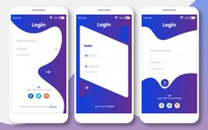 Login ui kit for any app or sign in page. App Ui Design, Login Page Design, Android App Design, Mobile Ui Design, Interface Design, Mobile Login, App Login, Mobile Application Design, School Application