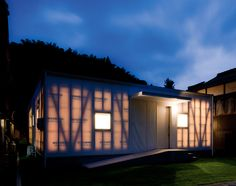 House M / Keiko Maita Architect - Exterior walls made of a semi translucent tent material