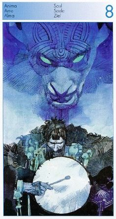 Eight of Soul (=Cups / Water) Sergio Toppi. Tarot of the Origins