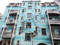 Der Hof der Elemente in der Kunsthofpassage Dresden