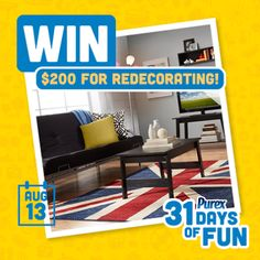 Smith and Blessings: Purex Insiders: 31 Days of Fun Sweepstakes - Day 13
