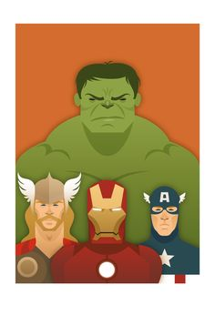 Avengers Limited Edition from the Stanley Chow Print Shop.  The Hulk, Thor, Iron Man, Captain America.