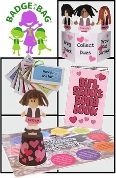 Your girls will enjoy learning about Brownie traditions with songs, a game and crafts.        Individual packaging also available. Suitable for independent Girl Scouts No scissors or glue needed. Just grab and go!…