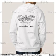 DRAGONFLY YOU COLOR IT T-SHIRTS, HOODIES YOU COLOR
