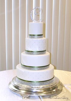 Becky and Timothy's wedding cake by The Couture Cakery
