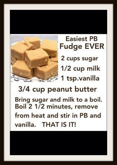 Easiest PB  Fudge Ever
