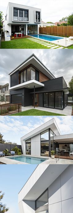 Don't let a tiny block hold you back from getting your dream look with our tips for achieving the modern look on a smaller block! Best Exterior House Paint, Exterior Siding Colors, Exterior Color Schemes, Hip Roof Design, Exterior Paint Combinations, House Paint Color Combination, Exterior Remodel, Paint Colors For Home, Modern House Design