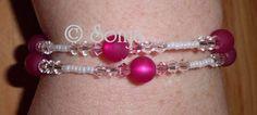 Armband in weiß/pink,http://creativplanet.jimdo.com/kontinent-schmuck/bundesstaat-armband-ringe/