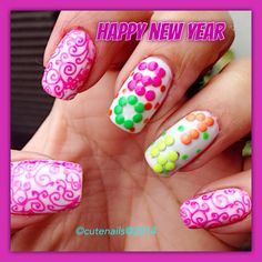 My 6th nail art for new year