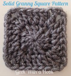 Solid Granny Square Pattern for Pixel Crochet - Right Handed Version - Geek With a Hook - GeekWithaHook.blogspot.com