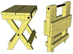 folding wood stool plans