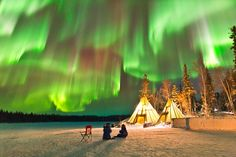Auroras over Northern Canada - Wow!