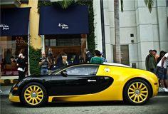 Bijan Yellow Bugatti Veyron outside Bijan's shop in Beverly Hills...