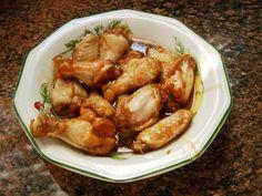 Alitas de pollo con salsa de soja, miel y limón