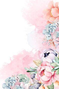 hand-painted,spring,flower,red,green leaf,bird,spring flower,pink Flower Background Wallpaper, Flower Backgrounds, Background Images, Wallpaper Backgrounds, Colorful Backgrounds, Spring Flowers Wallpaper, Art Floral, Flower Frame, Flower Art