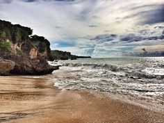 Very beautiful beach with rock and perfect spot to view sunset in Bali