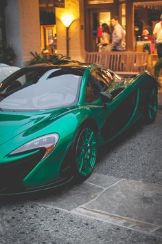 Rob asked me to start brainstorming what kind of car I want to replace Patrick... This is nice, and green. Think he'll let me have a McLaren P1?