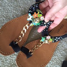 Zigigirl bejeweled sandal. Size 7 Nwot. In perfect new condition. Gemstones are beautiful and in perfect condition. True to size 7. No trade. Zigigirl Shoes Sandals