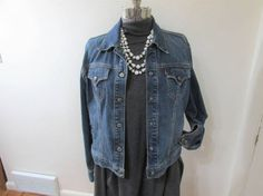 Vintage Jean Jacket Levi Strauss Size Medium Miss by LuRuUniques