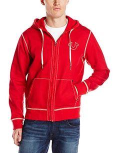 146bb41cf True Religion Men's Long Sleeve Contrast Stitch Hoodie Hoodie Jacket,  Sweater Hoodie, Hoody,