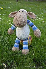 Hračky - Ovečka - 5367023_ /Crochet sheep