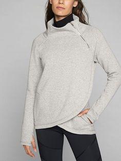 Athleta Cozy Karma Asym Pullover Size M in Light Grey Heather or Black