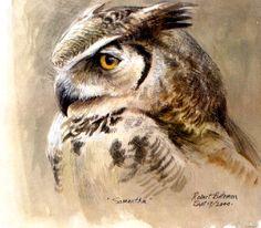 Samantha, the Great-Horned Owl  - Robert Bateman
