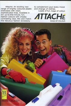 Follow Me mag, March 1987. Attaché plastic briefcases