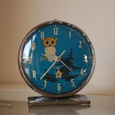 owl table clock