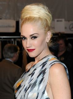 Gwen Stefani Formal Textured Bun Updo for Long Hair