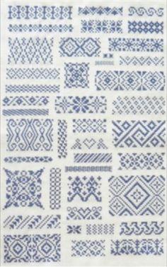Bleu Dutch antique sampler in a museum - Patronen merk- en letterlappen | Museum Dokkum