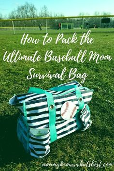 to Pack the Ultimate Baseball Mom Survival Bag (Printable Checklist!) The Ultimate Baseball Mom Survival Bag Checklist Baseball Snacks, Travel Baseball, Baseball Tips, Baseball Games, Baseball Dugout, Baseball Equipment, Baseball Stuff, Baseball Scoreboard, Baseball Uniforms